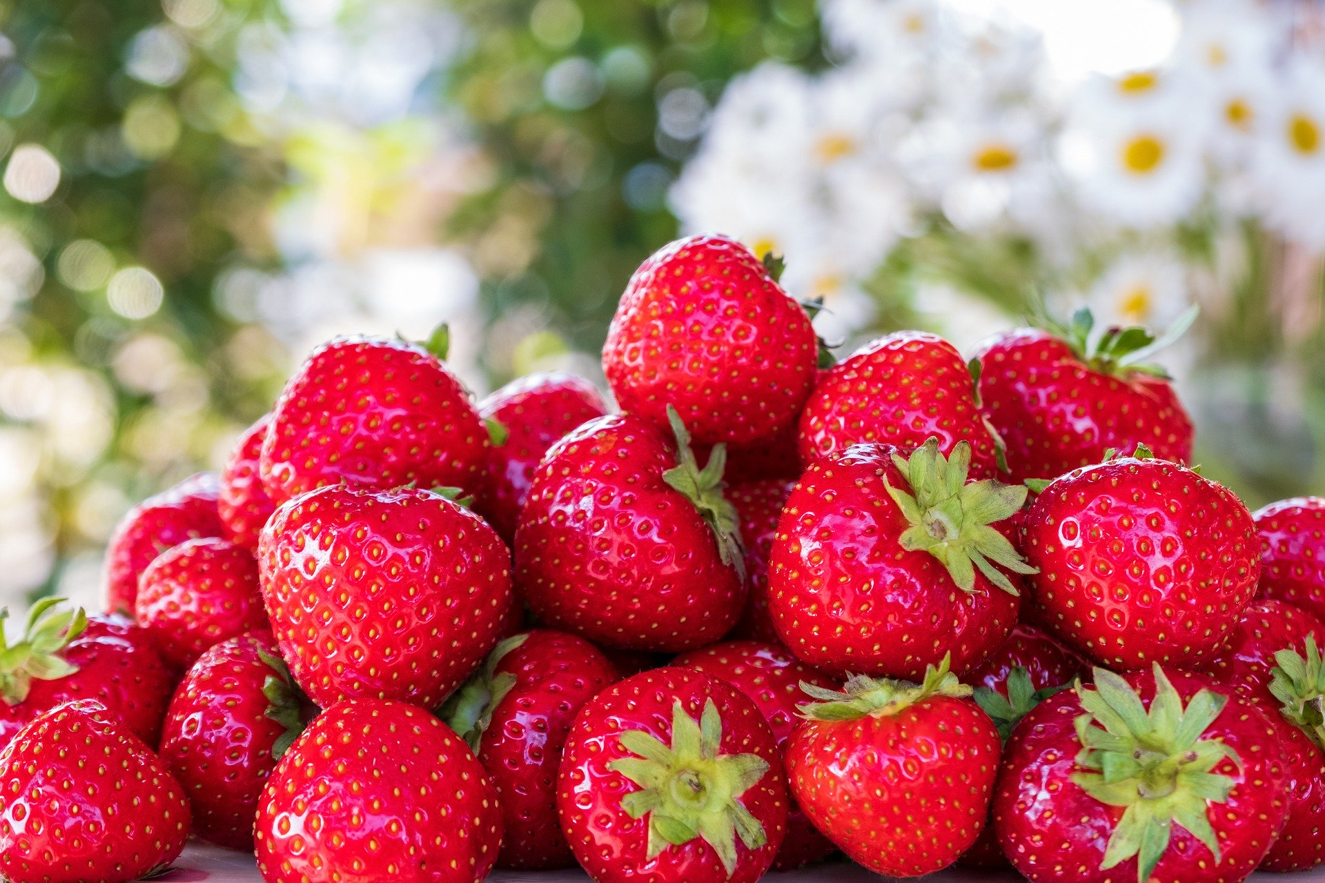 Strawberries are an excellent source of vitamin C which aids digestion.