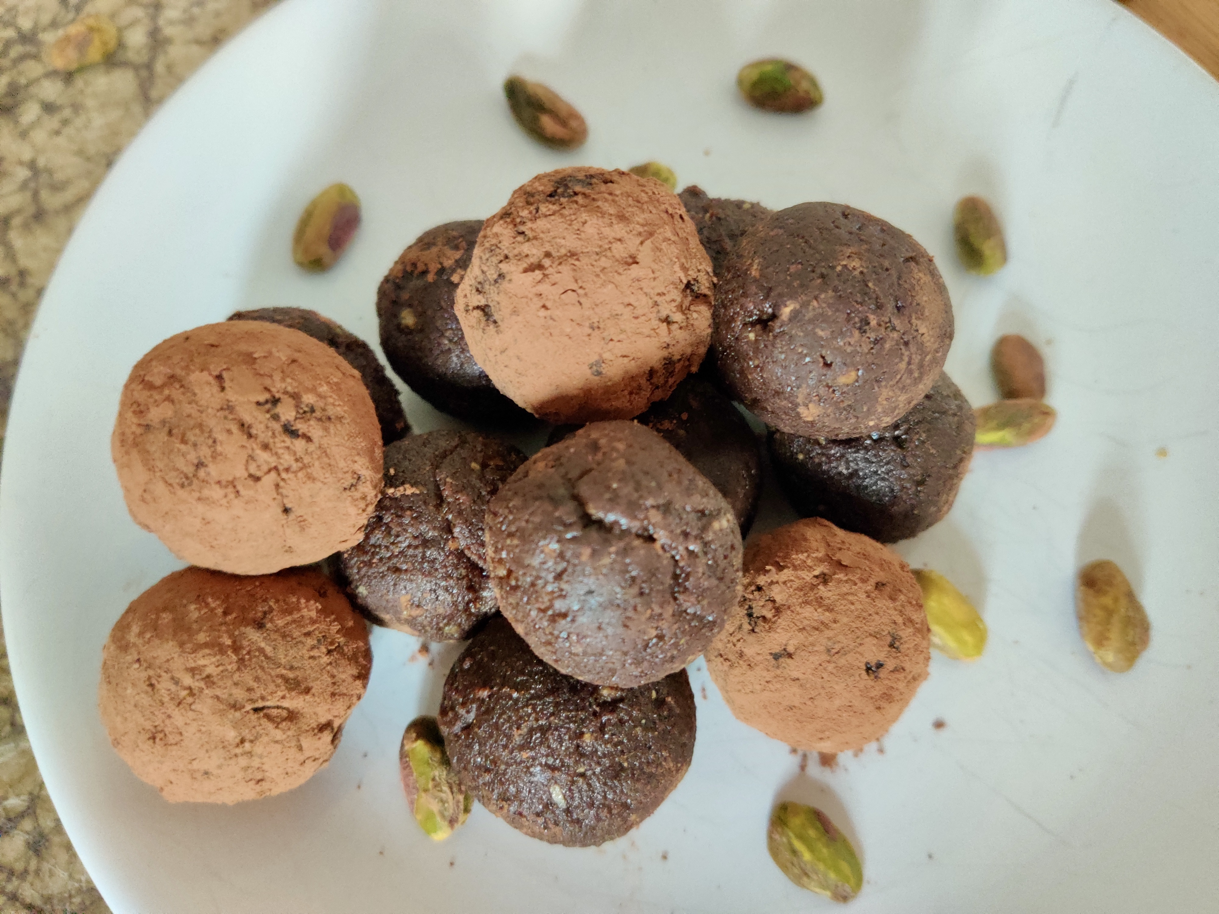 Pistachio and chocolate energy balls will boost your gut health as well as your energy.