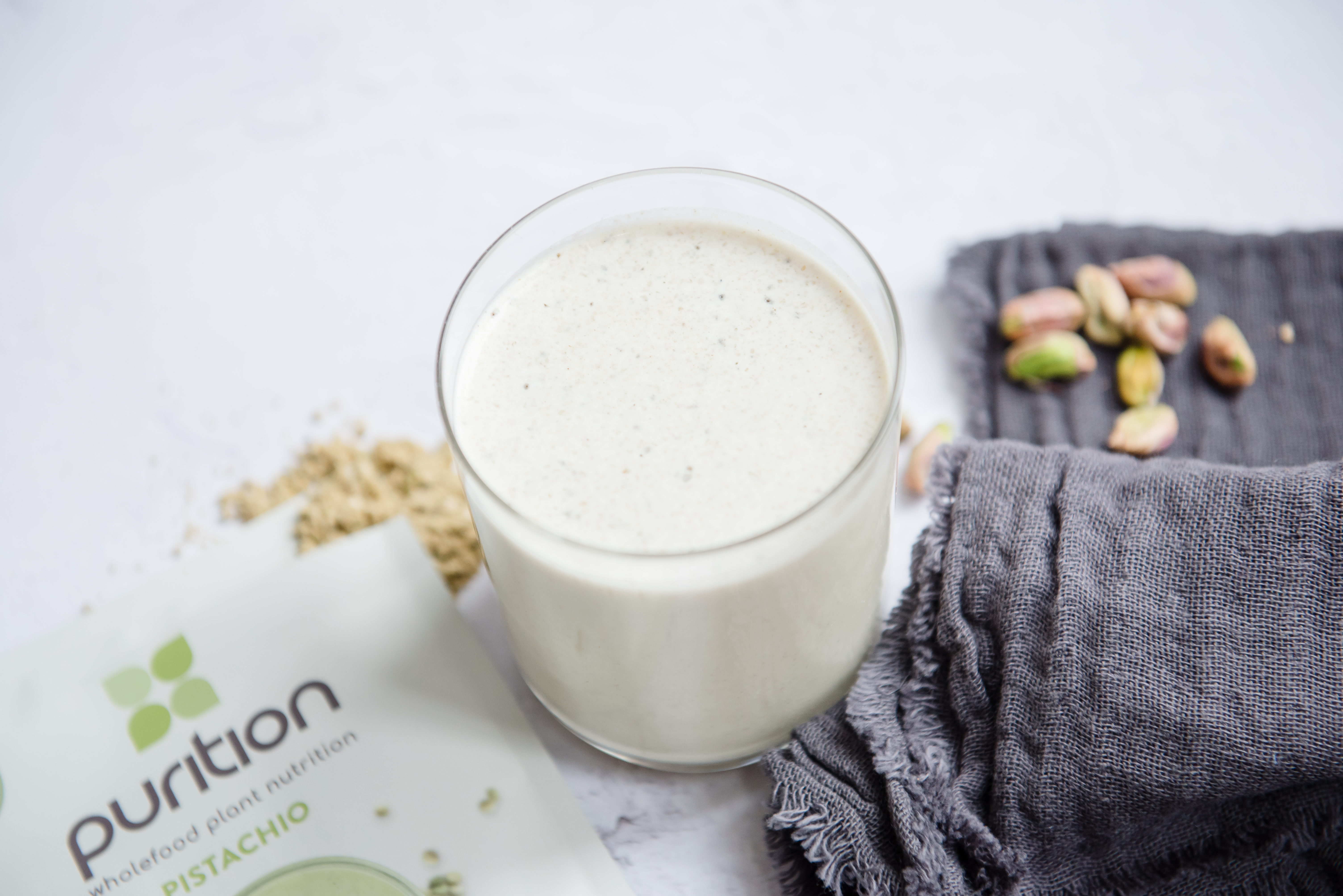Vegan Purition Pistachio is a gut-friendly protein blend.