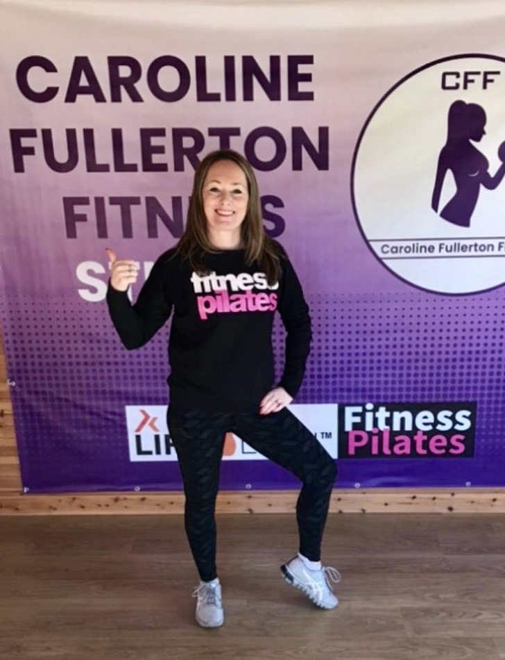 Caroline Fullerton teaches Fitness Pilates, a type of exercise which has a strong focus on core strength